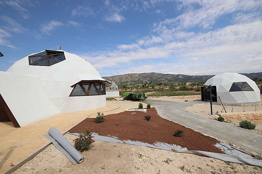 New Eco Dome modern detached villa with a pool, terrace and garage in Pinoso Villas