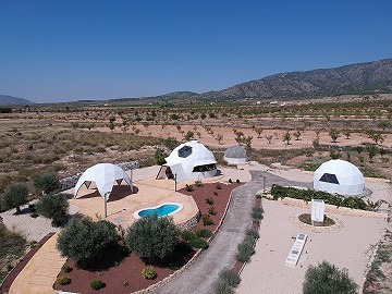 New Eco Dome modern detached villa with a pool, terrace and garage