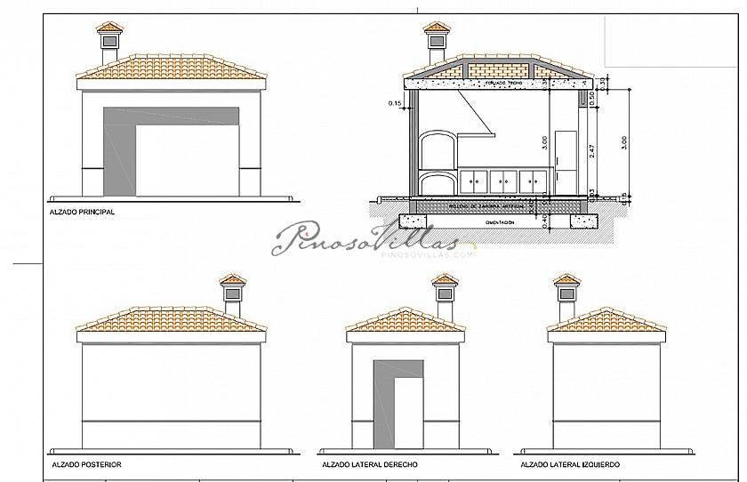 Luxury New Villa with Pool €298,995 inc. land, licences & legalities in Pinoso Villas