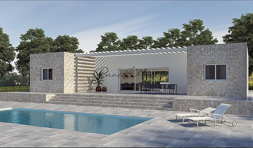 New build with pool and plot walk to Pinoso town in Pinoso Villas