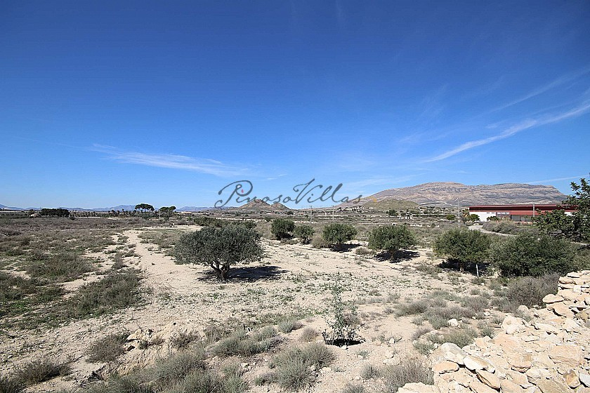 Two building plots in Agost with water and electricity in Pinoso Villas