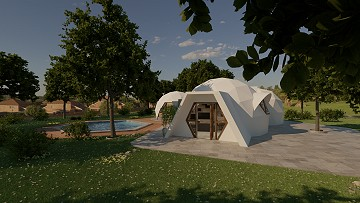Dome Eco New Build - Ibi model 1 bed 1 bath, plot included